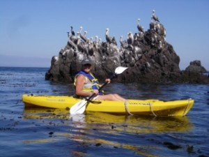 Kayaking is one of the added treats on a daylong sail