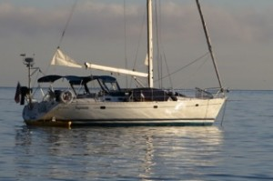Sancerre rides to anchor at Santa Cruz Island