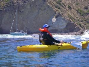 Sailing to Santa Cruz island Gunkholing and kayaking - great ways to explore our islands