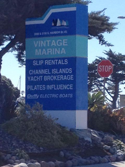Entrance sign Vintage Marina