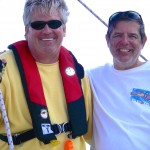 Dean and his sailing buddy Richard on 3-day  ASA 104 cruise