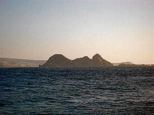 Castle Rock on NW shore of San Miguel