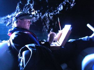 The Great American Artist Dave Gallup paints Painted Cave