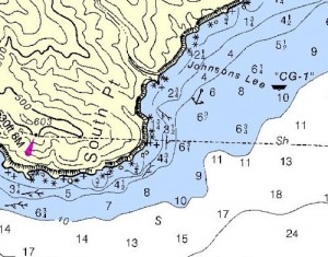 Johnsons Lee is protected from westerlies by South Point