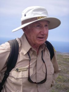 Ranger George Roberts, who retired from the Park Service and returned to San Miguel as a volunteer.