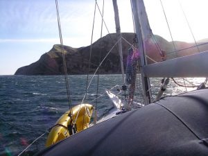 Seeking refuge from 45 knot winds in Yellowbanks.