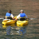 Kayaks: two single, one double